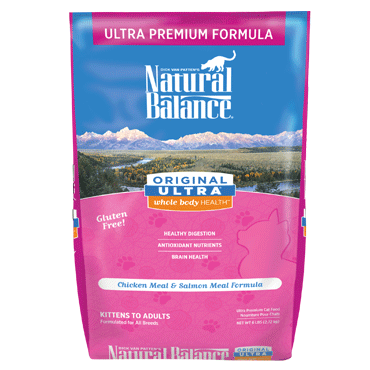 Natural Balance Premium Cat Food | Original Ultra Formula | Chicken Meal & Salmon Meal Recipe