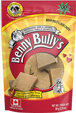 Benny Bully's Liver Chops | Freeze-Dried Beef Liver Dog Treats