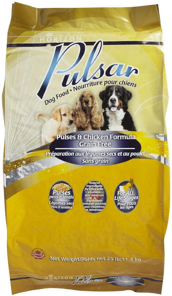 Horizon Pulsar Premium Dog Food | Chicken and Pulses | Grain-Free Formula | 25 lb Bag
