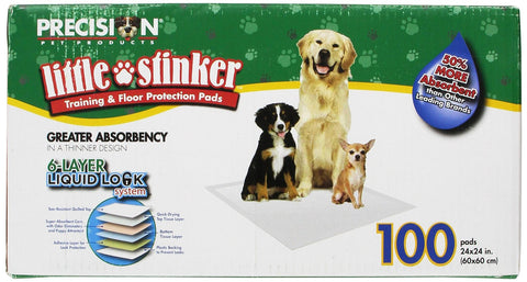 Precision Pet Little Stinker Dog Pee Pads | 100 Pack