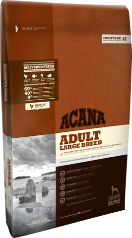 Acana Large Breed Premium Adult Dog Food | Grain-Free Formula | 17 kg Bag