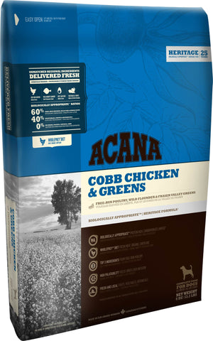 Acana Premium Dog Food | Grain-Free Formula | Adult Dog Formula (Formerly Cobb Chicken and Greens)