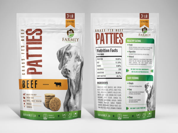 Farmly Premium Gently Cooked Dog Food | Grass-fed Beef Formula