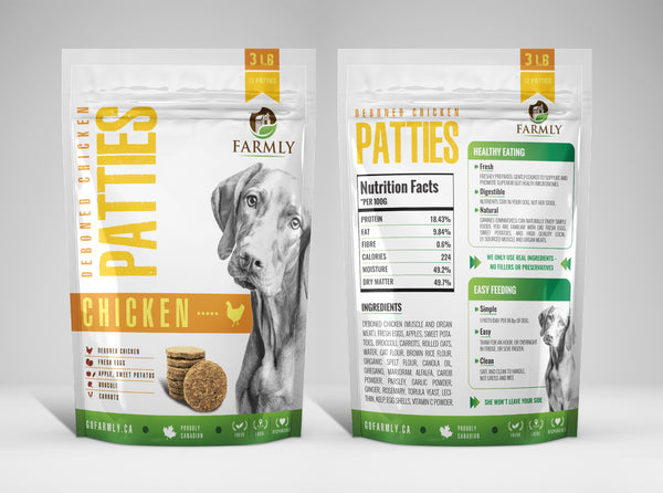 Farmly Premium Gently Cooked Dog Food | Deboned Chicken Formula