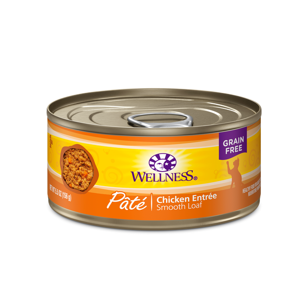 Wellness Premium Canned Cat Food | Complete Health Grain-Free Formula | Chicken Pate Recipe