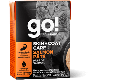 Go! Premium Cat Food | Skin + Coat Care Formula |  Salmon Pate Recipe | 182g Carton