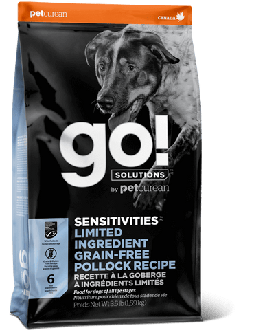 Go! Premium Dog Food | Limited Ingredient Grain-free Sensitivities Formula | Pollock Recipe | 22 lb Bag
