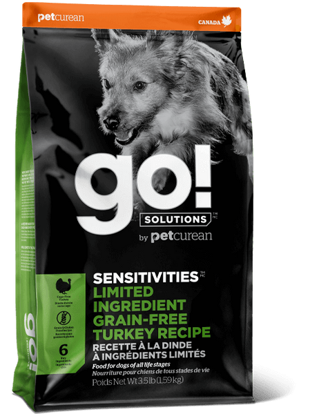Go! Premium Dog Food | Sensitivity & Shine Limited Ingredient Grain-Free Formula | Turkey Recipe