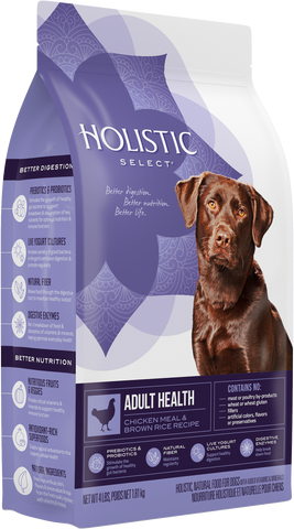 Holistic Select Premium Dog Food | Adult Health Formula | Chicken Meal & Brown Rice Recipe | 30 lb Bag