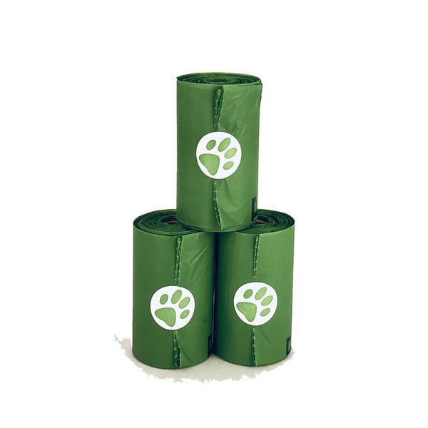 Pawsitive Solutions Compostable Poop Bags | Box of 8 rolls (120 Bags)
