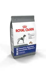 Royal Canin MAXI Sensitive Digestion Formula Adult Dog Food Packaging