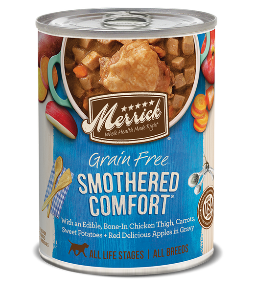 Merrick Premium Canned Dog Food | Grain-Free Formula | Smothered Comfort Dinner in Gravy Recipe | 12.7 oz. Can