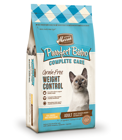 Merrick Premium Adult Cat Food | Purrfect Bistro Grain-Free Weight Control Formula | 6 lb Bag
