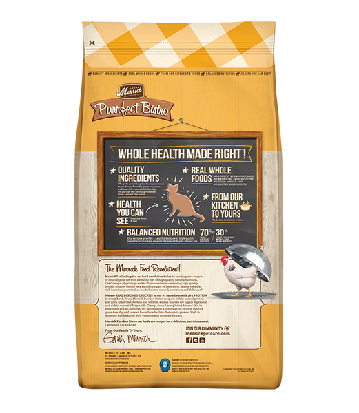 Merrick Premium Adult Cat Food | Purrfect Bistro Grain-Free Formula | Chicken & Sweet Potato Recipe
