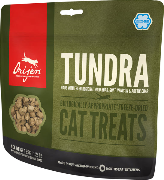 Orijen Premium Cat Treats | Tundra Freeze-Dried Formula | 35 g Pouch