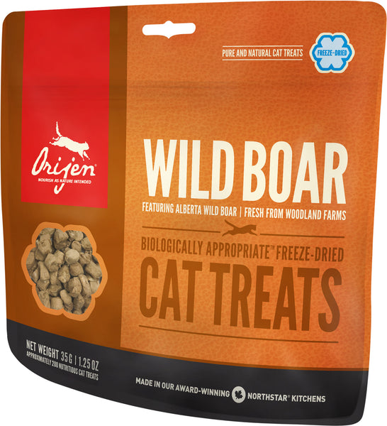 Orijen Premium Cat Treats | Wild Boar Freeze-Dried Formula | 35 g Pouch