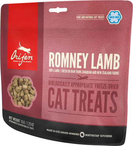 Orijen Premium Cat Treats | Rodney Lamb Freeze-Dried Formula | 35 g Pouch