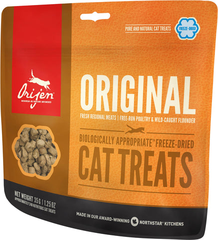 Orijen Premium Cat Treats | Original Freeze-Dried Formula | 35 g Pouch