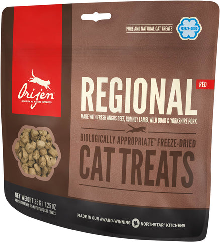 Orijen Premium Cat Treats | Regional Red Freeze-Dried Formula | 35 g Pouch