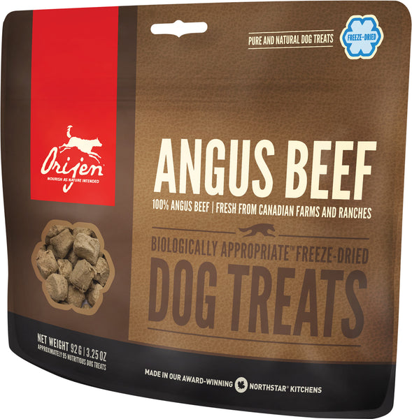 Orijen Freeze-Dried Premium Dog Treats | Ranch-Raised Beef