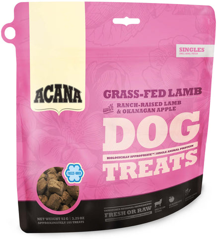 Acana Premium Freeze-Dried Dog Treats | Grass-fed Lamb Formula | 92g Pouch