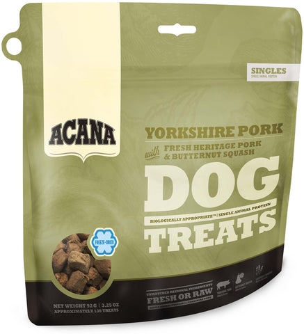 Acana Premium Freeze-Dried Dog Treats | Yorkshire Pork Formula | 92g Pouch