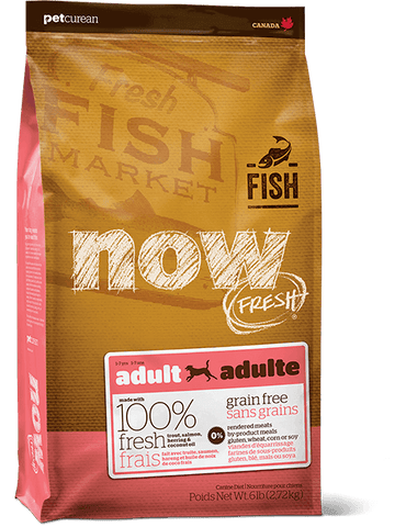 NOW FRESH Premium Adult Dog Food | Grain-free Fish Recipe | 25 lb Bag