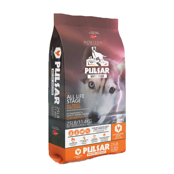 Horizon Premium Dog Food | Pulsar Whole Grain Formula | Chicken Recipe | 25 lb Bag