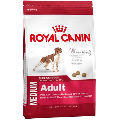 Royal Canin Medium Adult Dog Food Packaging