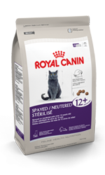 Royal Canin Spayed/Neutered Mature Cat Food packaging