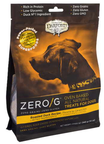 Darford Premium Dog Biscuits | Zero/G Grain-Free Formula | Roasted Duck Recipe | 340 g Pouch