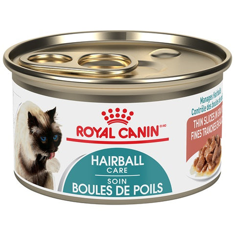 Royal Canin Premium Canned Cat Food | Hairball Care Formula | Thin Slices in Gravy | 3 oz. Cans (Case of 24)