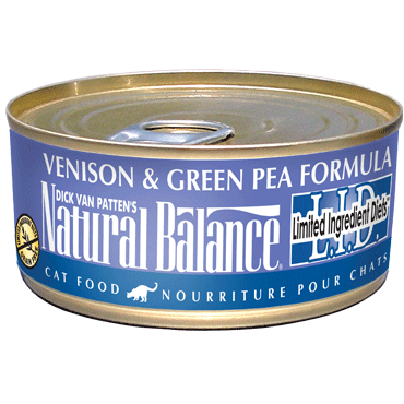 Natural Balance Cat Food | Limited Ingredient Grain-Free Diet | Venison & Green Pea Formula | 5.5 oz. Cans (Case of 24)