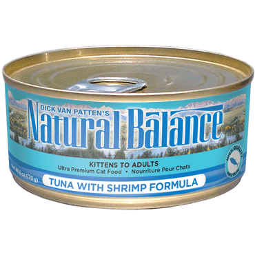 Natural Balance Cat Food | Tuna with Shrimp Formula | 5.5 oz. Cans (Case of 24)