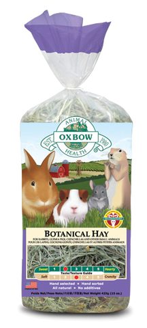 Oxbow Botanical Hay packaging