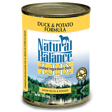 Natural Balance Premium Dog Food | Limited Ingredient Diet | Duck and Potato Formula | 13 oz. Cans (Case of 12)