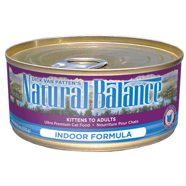 Natural Balance Cat Food | Indoor Cat Formula | 5.5 oz. Cans (Case of 24)