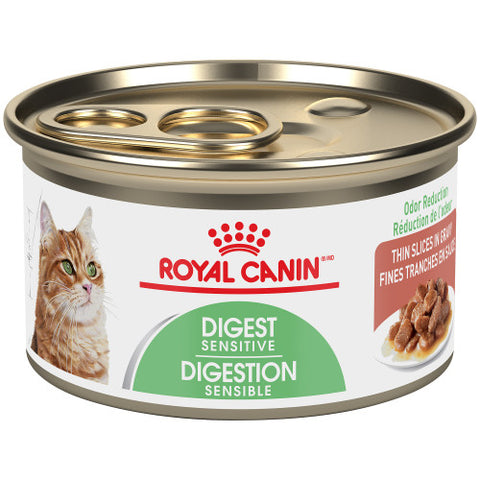 Royal Canin Canned Cat Food | Digest Sensitive Thin Slices in Gravy Formula | Case of 24 Cans (85g)