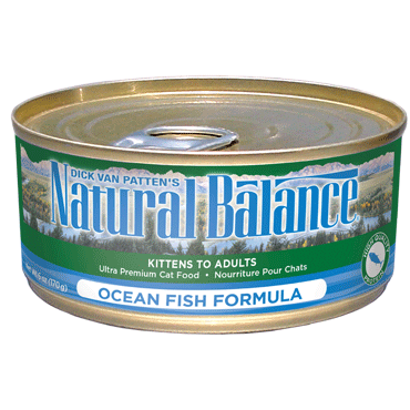 Natural Balance Cat Food | Ocean Fish Formula | 5.5 oz. Cans (Case of 24)