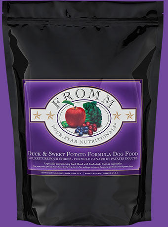 Fromm Duck and Sweet Potato Premium Dog Food Packaging