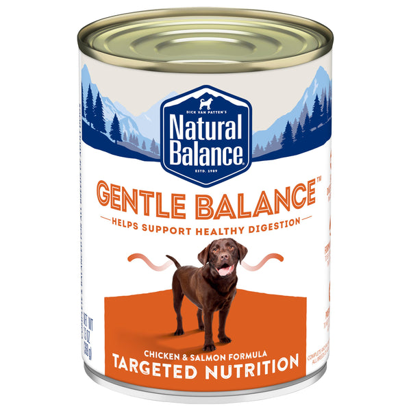 Natural Balance Premium Canned Adult Dog Food | Gentle Balance Formula | Chicken & Salmon Recipe | 13 oz. Can