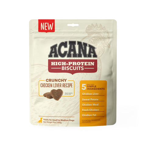 ACANA Crunchy Puppy & Dog Biscuits | Chicken Liver Recipe | 255g Pouch