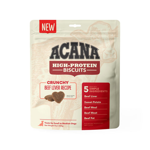 ACANA Crunchy Puppy & Dog Biscuits | Beef Liver Recipe | 255g Pouch