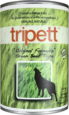 PetKind Tripett Premium Canned Dog Food | Original Green Beef Tripe Grain-Free Formula | 13 oz. Can