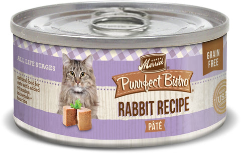 Merrick Purrfect Bistro Premium Canned Cat Food | Grain-free Recipe | Rabbit Recipe | 5.5 oz. Can