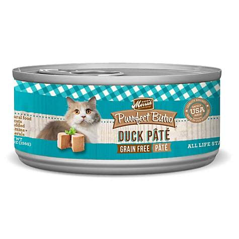 Merrick Purrfect Bistro Premium Canned Cat Food | Grain-free Recipe | Duck Pate | 5.5 oz. Can