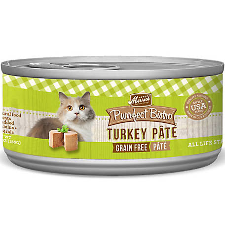 Merrick Purrfect Bistro Premium Canned Cat Food | Grain-free Recipe | Turkey Pate | 5.5 oz. Can