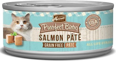 Merrick Purrfect Bistro Premium Canned Cat Food | Grain-free Recipe | Salmon Pate | 5.5 oz. Can