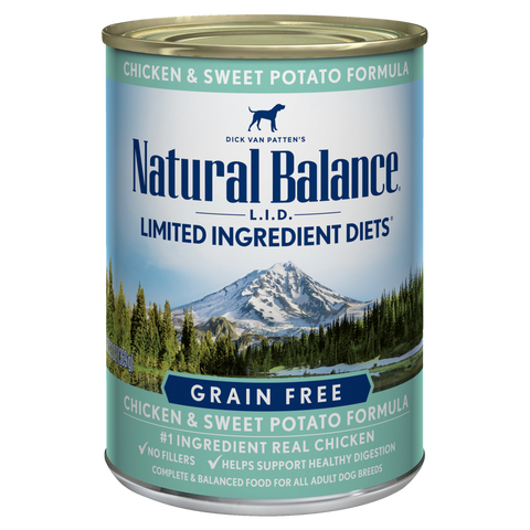Natural Balance Premium Dog Food | Limited Ingredient Grain-free Diet | Chicken and Sweet Potato Formula | 13 oz. Cans (Case of 12)