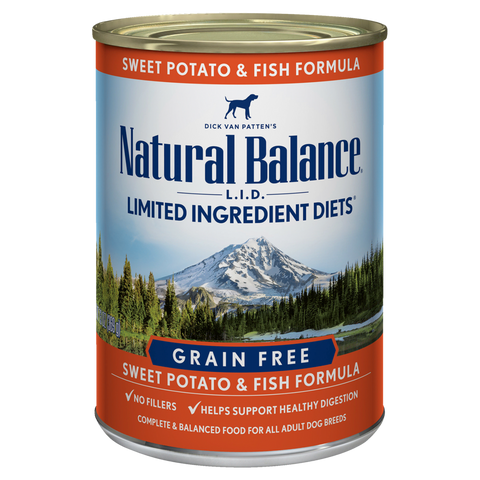 Natural Balance Premium Dog Food | Limited Ingredient Diet | Sweet Potato and Fish Formula | 13 oz. Cans